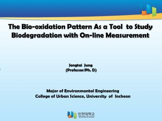 The Bio-oxidation Pattern As a Tool  to Study Biodegradation with On-line Measurement