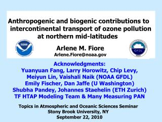 Anthropogenic and biogenic contributions to intercontinental transport of ozone pollution