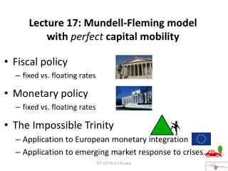 Lecture 17: Mundell-Fleming model with  perfect  capital mobility