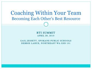 Coaching Within Your Team Becoming Each Other's Best Resource