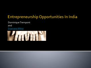 Entrepreneurship Opportunities In India