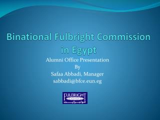 Binational  Fulbright Commission  in Egypt