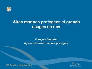 Aires marines protégées et grands usages en mer François Gauthiez