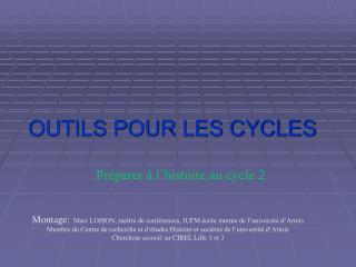 OUTILS POUR LES CYCLES