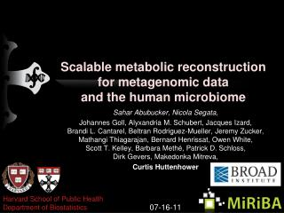 Scalable metabolic reconstruction for metagenomic data and the human microbiome
