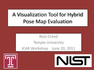 A Visualization Tool for Hybrid Pose Map Evaluation
