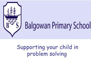 Supporting your child in problem solving