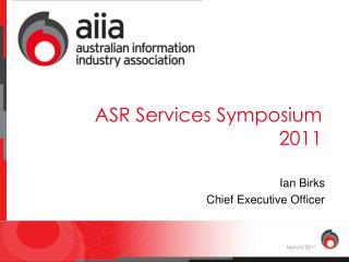 ASR Services Symposium 2011