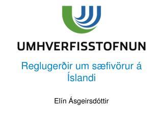 Reglugerðir um  sæfivörur  á Íslandi