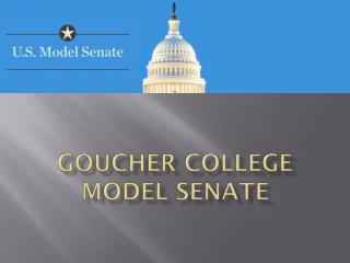 Goucher College Model  Senate