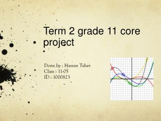 Term 2 grade 11 core project