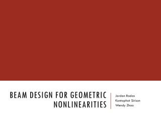Beam Design for Geometric Nonlinearities