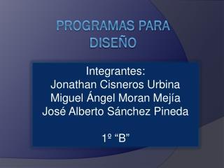 Programas para diseño