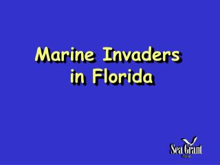 Marine Invaders   in Florida