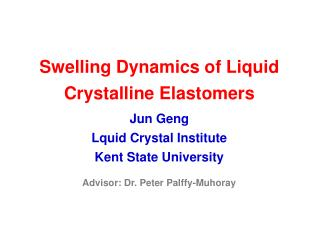 Swelling Dynamics of Liquid Crystalline Elastomers
