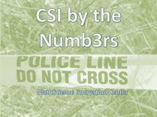 CSI by the Numb3rs