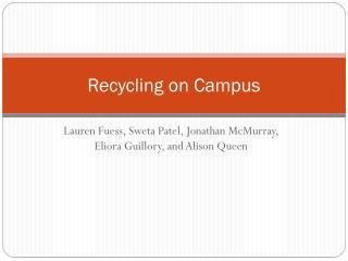 Recycling on Campus