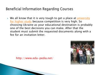 Beneficial Information Regarding Courses