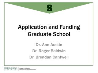 Application and Funding Graduate School