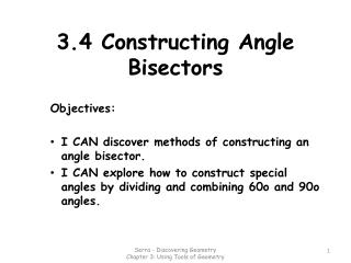 3.4 Constructing Angle Bisectors