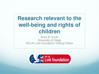 R esearch relevant  to the well-being and rights of children
