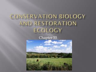 Conservation Biology and Restoration Ecology