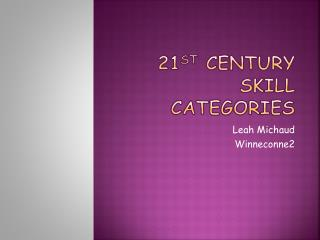 21 st  Century Skill Categories