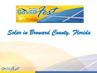Solar in Broward County, Florida