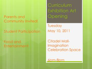 Curriculum Exhibition Art Opening