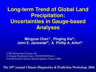 Long-term Trend of Global Land Precipitation:  Uncertainties in Gauge-based Analyses