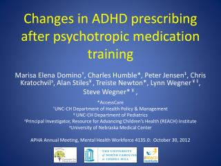 Changes in ADHD prescribing after psychotropic medication training