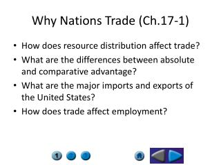 Why Nations Trade (Ch.17-1)