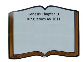 Genesis Chapter 16 King James AV 1611