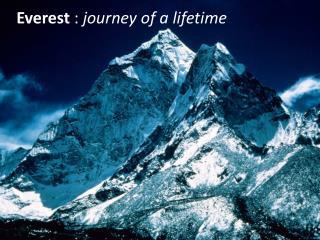 Everest  :  journey of a lifetime