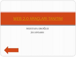 WEB 2.0 ARAÇLARI TANITIM