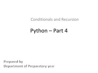 Python – Part 4