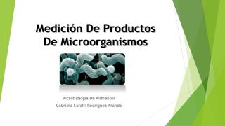 Medici�n De Productos           De Microorganismos