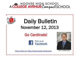 Daily Bulletin November 12, 2013