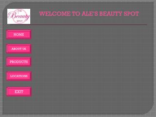 WELCOME TO ALE'S BEAUTY SPOT