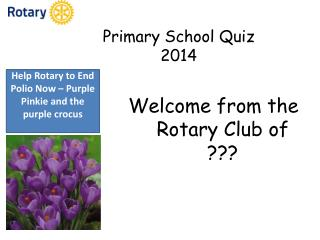 Primary School Quiz 2014