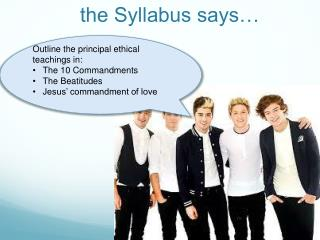 the Syllabus says…
