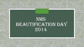 NMS  Beautification Day 2014