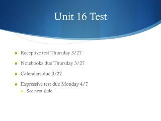 Unit 16 Test
