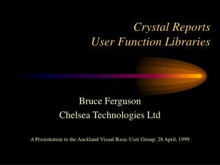 Crystal Reports User Function Libraries