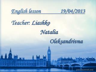 English lesson               19/04/2013