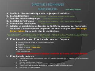 Directive s  techniques Saison 2010-2011               DOC 23  Projet_technique