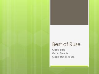 Best of Ruse