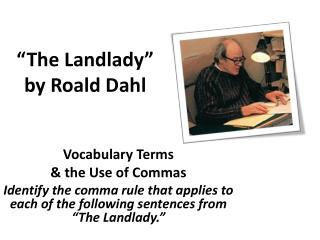 �The Landlady� by Roald Dahl