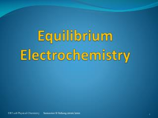 Equilibrium Electrochemistry