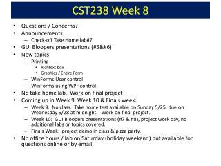 CST238 Week  8